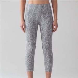 lululemon Wunder Under jacquard silver spoon